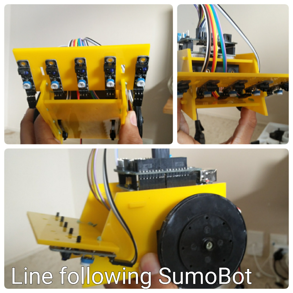 Line following SumoBot